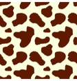 Brown and white cow skin animal print seamless vector image vector image