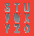 Brushed metal font series 3 S-0 vector image