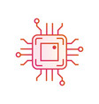 chip icon in line design simple microchip circuit vector image