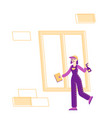 cleaning service concept female character in vector image vector image