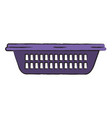 colored blurred silhouette of small laundry basket vector image vector image