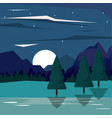 colorful background of nightly landscape of vector image