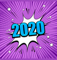comic new year background vector image vector image