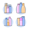 Cosmetic Flat icons vector image vector image