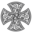 cross tribal tattoo vector image vector image