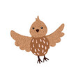 cute hand drawn bird isolated on white vector image