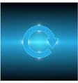 cycle arrow light vector image vector image