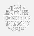 designer modern circular line vector image vector image