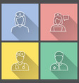 doctor - icon for graphic and web design vector image vector image