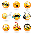 emoticons set vector image vector image