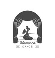 flamenco logotype vector image