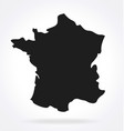 france map simplified silhouette vector image vector image