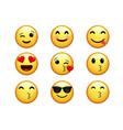 general unicode emoji set for social media vector image