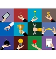 Hands icons set Flat Design vector image vector image