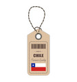 hang tag made in chile with flag icon vector image vector image