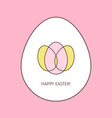 happy easter egg linear icon vector image vector image