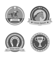 Horseback riding black badges and labels vector image vector image