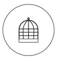 iron cage icon black color in circle vector image