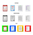isolated object of form and document icon set of vector image vector image