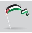 Jordan wavy flag vector image vector image