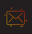 letter icon design vector image