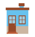 light color silhouette of small house with chimney vector image vector image