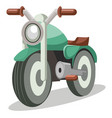 light green bike vestor on white background vector image