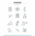 line science icons set vector image