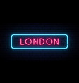london neon sign bright light signboard banner vector image vector image