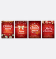 merry christmas party glass ball and gift box vector image vector image