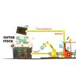 Microstock Market Working Concept Cartoon Schema vector image vector image
