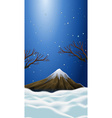 Nature scene with snow on mountain top vector image vector image