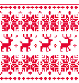 Nordic seamless knitted christmas pattern vector image vector image