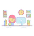 office worker icon for business vector image