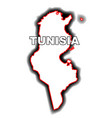 outline map of tunisia vector image vector image