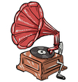 phonograph vector image