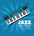 piano musical instrument label vector image vector image