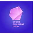 pink glamor stone on a blue background vector image vector image