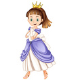 Princess with happy face vector image vector image