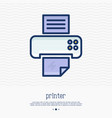 printer thin line icon simple vector image