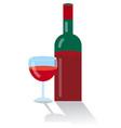 red bottle wine vector image vector image