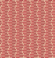 Retro fold red striped hexagons vector image