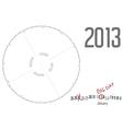 Round calendar 2013 vector image