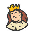 royal king head sign vector image