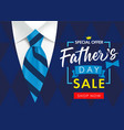 sale banner for fathers day suit necktie vector image vector image