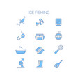 set of colored icons for summer fishing vector image vector image