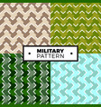 set of geometric arrow camouflage patterns vector image vector image