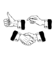 Set of icons mens hands making various gestures vector image vector image