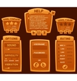 Set of orange cartoon boards and buttons vector image