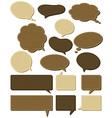 sixteen wooden labels vector image